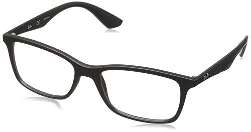 Ray-Ban RX7047 Rectangular Eyeglass Frames, Matte Black/Demo Lens, 54 ()