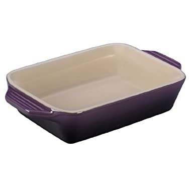 Le Creuset Stoneware Rectangular Dish, 10.5 by 7-Inch, Cassis