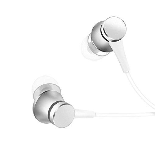 Original Xiaomi Piston Fresh Edition Wired Control Earphone Headphone With Mic (Silver)