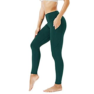DILANNI Yoga Leggings for Women High Waist Exercise Workout Pants with Pockets Green M