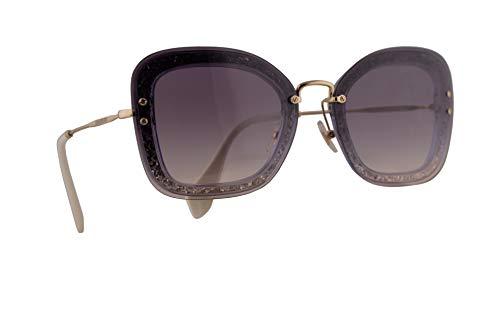 - Miu Miu MU02TS Sunglasses Transparent Dark Violet Glitter w/Pink Gradient Dark Violet 65mm Lens 86LNJ0 MU 02TS SMU 02TS SMU02T