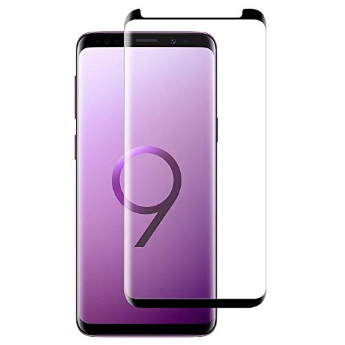 S9 Screen Protector, [9H Hardness][Anti-Fingerprint][Ultra-Clear][Bubble Free] Tempered Glass Screen Protector Compatible with Samsung Galaxy S9 (Black)