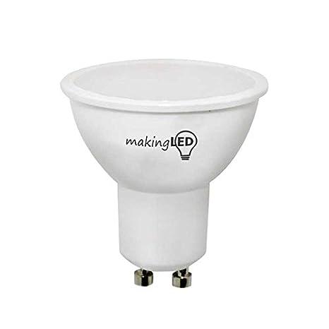 Makingled Making Pack 10 Bombillas Led Gu10 De Luz Neutra 4 W, Blanco 4W; 300Lm: Amazon.es: Iluminación