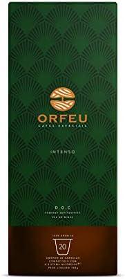 Cápsulas de Café Orfeu Intenso, Compatível com Nespresso, Contém 20 unidades