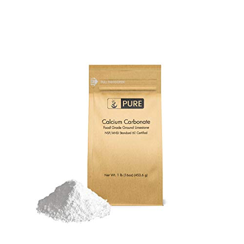 Calcium Carbonate Powder (1 lb.) by Pure Organic Ingredients, Eco-Friendly Packaging, Dietary Supplement, Antacid, Food Preservative, More (Best Homemade Chalk Paint Recipe)