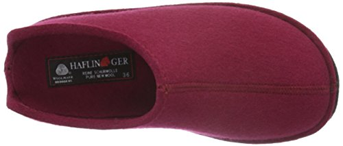 Unisex Low Adulti Haflinger Rosse Pantofole Rot Smily 33 top porta 54SWF1qw