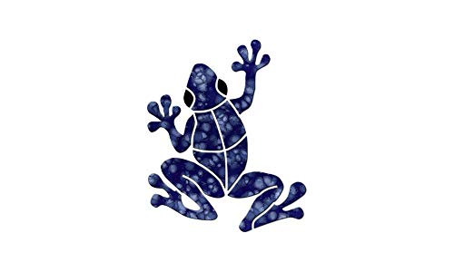 "Small Frog Ceramic Swimming Pool Mosaic (6"", Blue)"