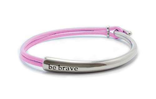 Bravelets Original Leather (Pink) Breast Cancer Fashion Bracelet