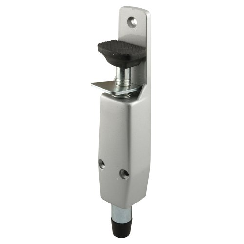Prime-Line Products J 4595 Spring Loaded Step-On Door Holder with Aluminum Painted Diecast