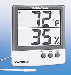 VWR THERMO-HUMIDITY METER - VWR Jumbo Temperature/Humidity Meter - Model 61161-378 - Each