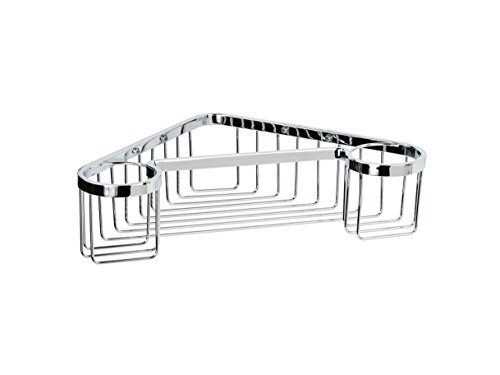 Corner Wall Mounted Shower Rack w/ Shelves 1-tier. Polished Chrome, Shower Caddies Brass Made in Spain (European Brand) … by Manillon Torrent