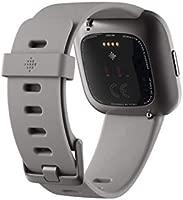Fitbit Versa 2, el smartwatch que te ayuda a mejorar la salud y la forma física, y que incorpora control por voz, puntuación del sueño y música, Gris ...