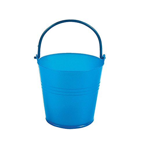 Fun Express Bright Blue Plastic Pails