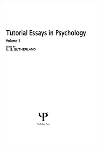 tutorial essays in psychology volume   kindle edition by n s  tutorial essays in psychology volume  st edition kindle edition