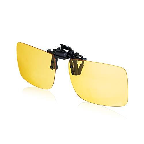JRG Polarized Clip-on Night Vision Glasses Fit Over Prescription Eyeglass Flip up Glasses Anti-Glare UV400