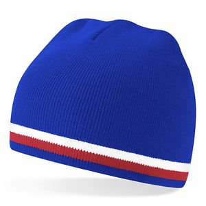 0204d38b334 Woolly Beanie Hat In Portsmouth Pompey FC Football Team Colours - One Size