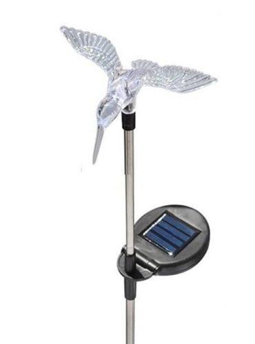 AGCAT LED Solar powered Butterfly dragonfly HUMMINGBIRD Landscape Path Lights Décor (2 pcs)