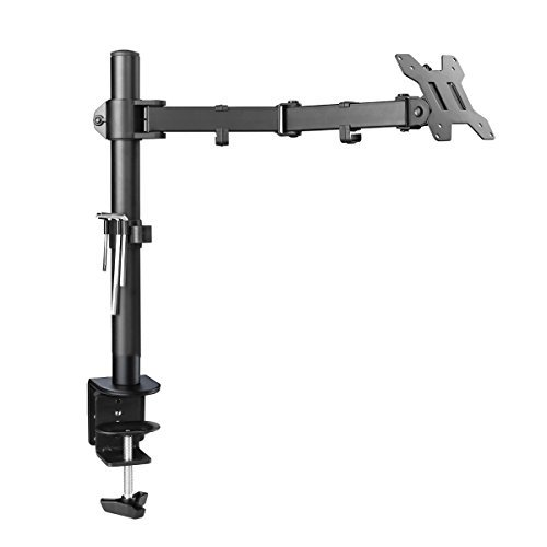 (Suptek Single LED LCD Monitor Desk Mount Heavy Duty Fully Adjustable Stand for 1 / One Screen up to 27 inch (MD6421))