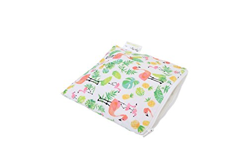 itzy-ritzy-happens-reusable-snack-and-everything-bag-flamingo-flock-pink