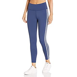 adidas Women's Believe This 2.0 AEROREADY 3-Stripes 7/8 Workout Training Yoga Pants Leggings, Tech Indigo/White, 4X