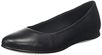 ECCO Women's Touch 2.0 Ballet Flat, Black Leather, 38 M EU (7-7.5 US)