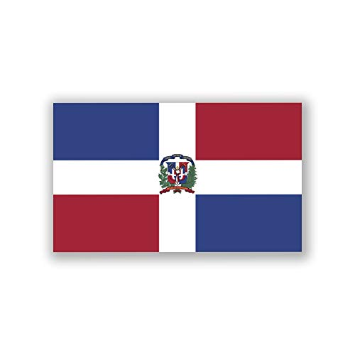 2-Pack Dominican Republic Flag Decal Stickers | Official Flag of The Dominican Republic Flag Stickers |5-Inches by 3-Inches | Premium Quality Vinyl | PD418 (Dominican Republic Scrapbooking)