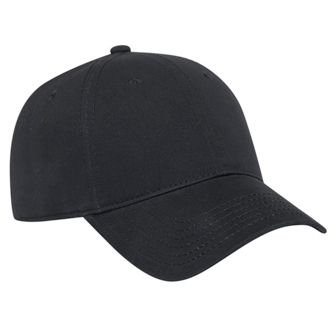 OTTO Ultra Fine Brushed Superior Cotton Twill 6 Panel Low Profile Baseball Cap - Black