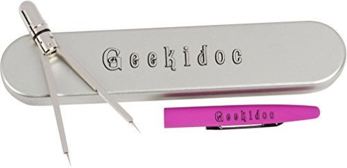 EKG calipers - ECG pen style caliper - Geekidoc quality, metal, designed to last entire career (Neon Pink) by Geekidoc