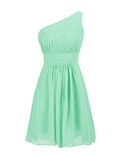 UPC 996880950484, Dressystar One-shoulder Short Mint Bridesmaid Dresses For Women Mint Size 2
