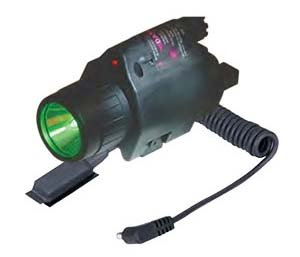 Sun Optics USA CLF-GRC Laser Light with 3W/LED/250 Lumen/Green/5MW Red Laser Clam by Sun Optics USA