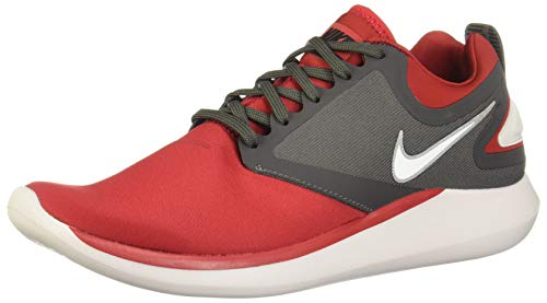 NIKE Mens Lunarsolo Running Shoes (Gym Red/White - Midnight Fog, 11 D(M) US)