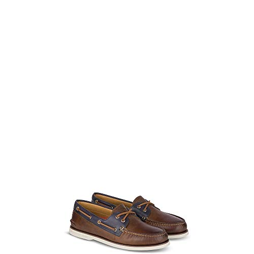 (Sperry Top-Sider Gold Cup Authentic Original Fairhaven Boat Shoe Men 10.5 Brown/Navy)