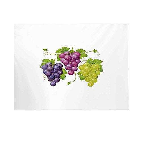 Grapes Home Decor Photography Background,Three Cluster of Ivy Burgundy Region Blending Fresh Picture Artwork Backdrop for Studio,7x5ft