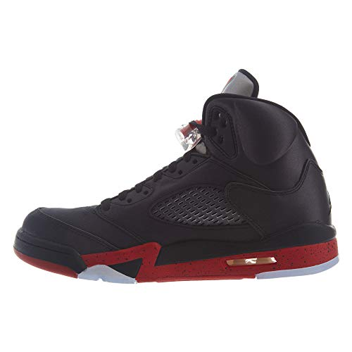 006 Da Air 5 Scarpe Jordan Nero Red black Nike Fitness Retro Uomo university Zw7Bq7C