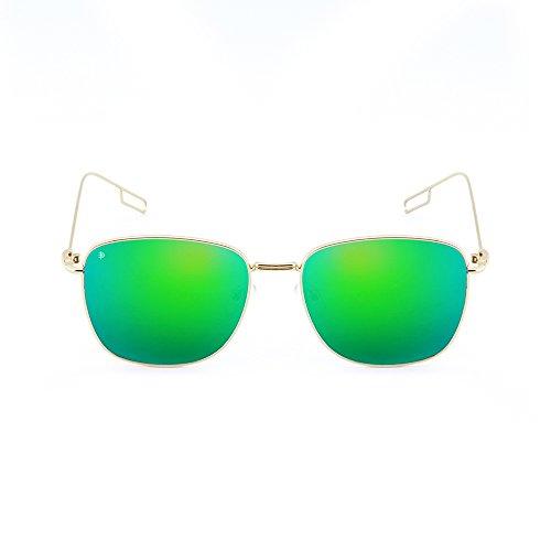mujer degradadas espejo de hombre Gafas Verde TWIG sol TANNING Oro OSdq0W