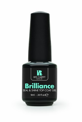 Red Carpet Manicure Brilliance Seal & Shine Top Coat Gel, 0.30 Ounce