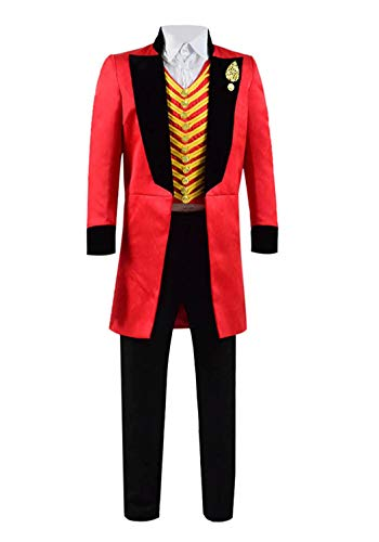 Qi Pao Kids Greatest Showman Barnum Performance Uniform Halloween Outfit Cosplay Costume (Big Boys 8, Red Black) ()