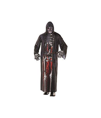 Underwraps Men's Grim Reaper Robe - Grim Reaper Makeup