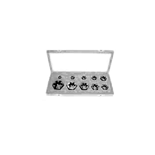 Hot Gyros 93-16212 Carbon Steel Hex Rethreading Die Set, 1/4-Inch to 1-Inch NF, 10-Piece for sale