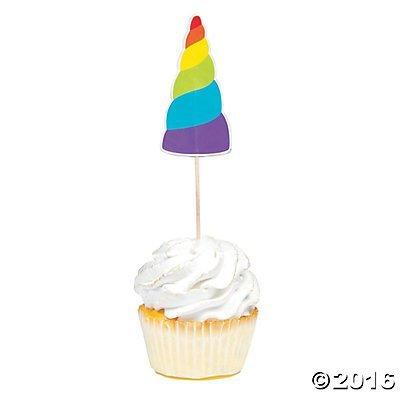 Unicorn Cupcake Picks 25 pc