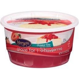 - Marzetti Sugar Free Fruit Glaze, Strawberries, 13.5oz (qty. 4)
