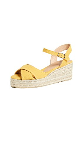 Castaner Womens Blaudell Crisscross Low Wedges Amarillo Claro
