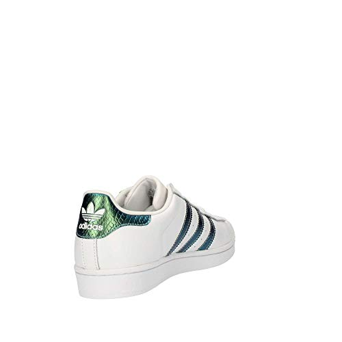 adidas Blanco J Superstar Ragazzo Scarpe Bianco per Bambini 000 wOFZwB