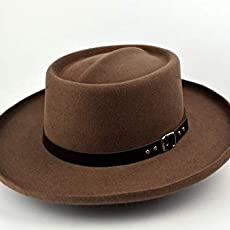4e02fd749ad Amazon.com  The Mossman - Wool Felt Fedora Hat - Wide Brim - Men ...