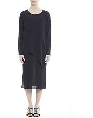 Theory Women's H0102603G8E Blue Silk Dress
