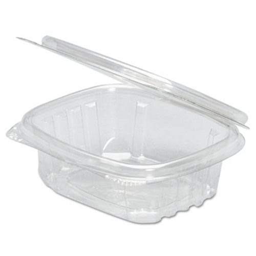 Ounce Cartons 4 (Genpak Hinged-Lid Deli Containers, Clear, 4Oz, 3.63 X 4 1/4 X 1 1/4, 100/Bag, 4Bag/Carton)