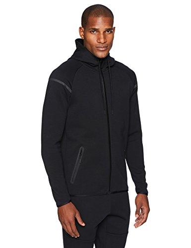 Metro Full-Zip Fleece Hoodie, Black, 3X-Large (Bonded Full Zip Fleece)