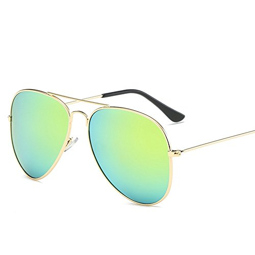 6 gafas de de pesca personalidad Espejo sol Cinco Shop redondo Gafas sol sol moda gafas de de de ocio sapo de metal y de de pdPPnqf8x