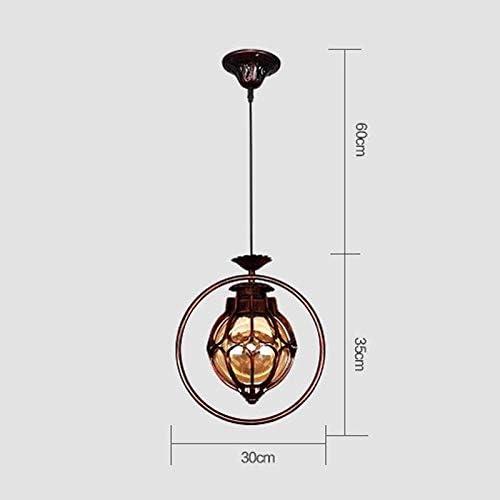 E26 E27 Reisx Continental Vintage imperm/éable pendentif lumi/ères lanterne jardin balcon porte-raisin Haning /éclairage montage int/érieur et ext/érieur abat-jour en verre lumi/ère de suspension
