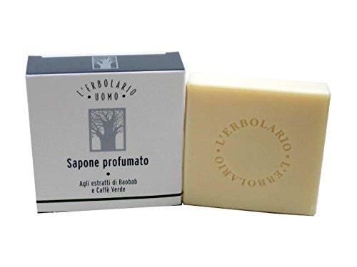 Uomo Soap - Uomo Baobab and Green Coffee Soap Bar for Men by L'Erbolario Lodi